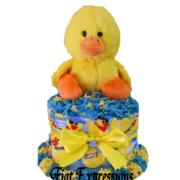 Duck Boy Mini Diaper Cake