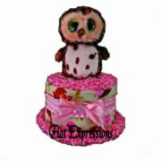 Forest/Woodland Mini Diaper Cake