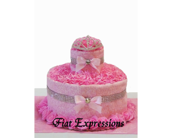 Pink Princess Baby Shower Diaper Cake Fiat Expressions