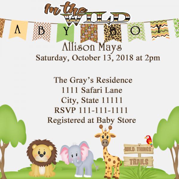 Jungle safari baby shower invitation fiat expressions a baby jungle safari baby shower invitation filmwisefo