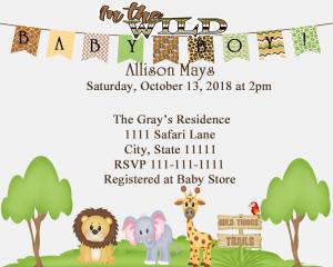 jungle safari baby shower invitation fiat expressions a baby